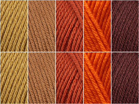 Pumpkin Spice Latte Colour Pack in Deramores Studio DK