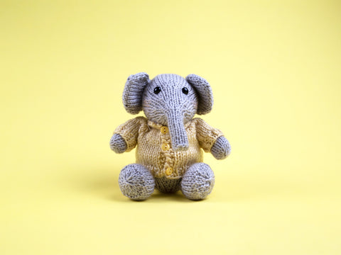 Elephant Knitting Kit and Pattern