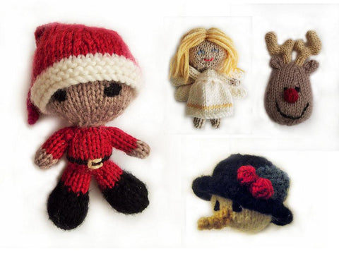Christmas Decorations by Cilla Webb in Deramores Studio DK Knitting Kit and Pattern