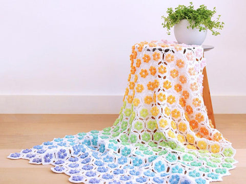 Flower Shower Blanket Crochet Kit and Pattern in Scheepjes Yarn