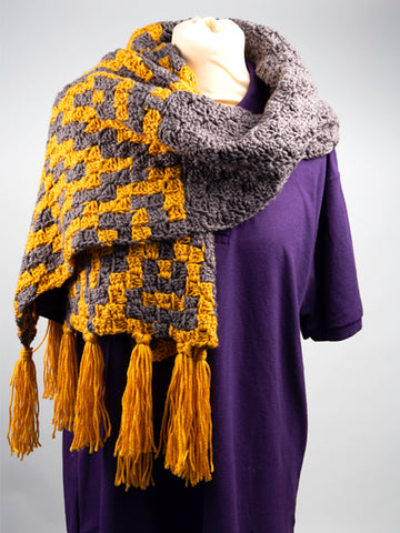 The Geo Scarf Crochet Kit and Pattern