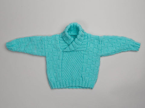 Babies Shawl Neck Sweater in Deramores Studio Baby DK
