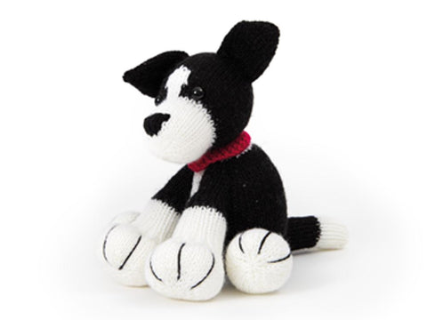 Dera-Dog Border Collie Knitting Kit in Deramores Studio DK Acrylic Yarn