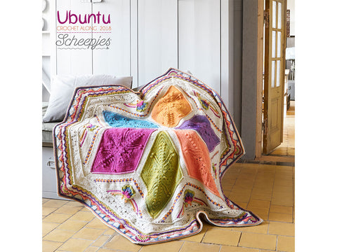 Scheepjes CAL 2018 Ubuntu by Dedri Uys in Scheepjes Stone Washed XL & River Washed XL - Large
