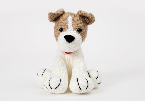Buster the Jack Russell - Dera-Dogs - Knitting Kit and Pattern in Deramores Yarn