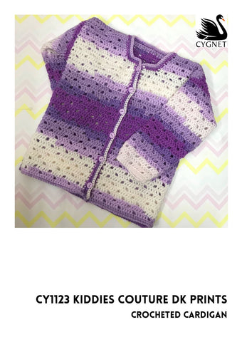 Crocheted Cardigan in Cygnet Yarns Kiddies Couture DK - Yarn and Pattern