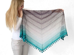 Wish Me Luck Shawl by Wilmade in Scheepjes Whirl