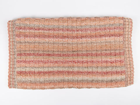 Bed Runner, Blanket and Cushion by Jenny Watson in James C. Brett Marble Chunky (5058)