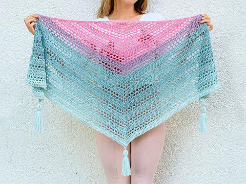 Such Simple Shawl by Wilmade in Lion Brand Mandala
