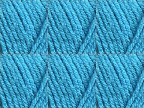 Turquoise Cygnet Yarns Chunky - 6 Ball Value Pack