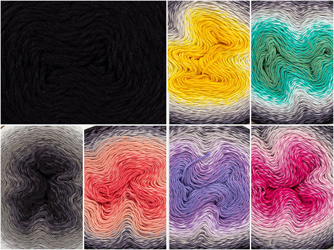 Liquorice Truffles Colour Pack in Scheepjes Whirl & Whirlette