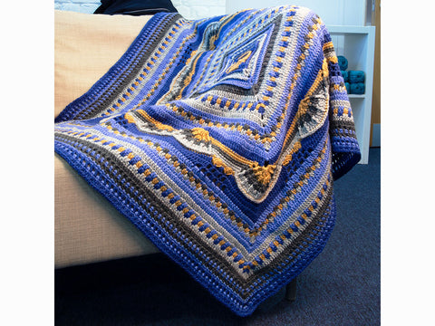 Tollesbury Blanket Crochet Kit and Pattern in Rowan Yarn