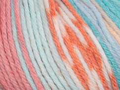 Pink/Turquoise in Rico Design Baby Dream Luxury Touch DK Acrylic Yarn