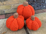 Chunky Pumpkins Crochet Kit and Pattern in Deramores Yarn