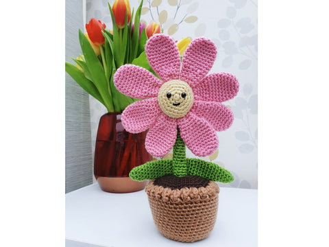 Crochet Flower In a Pot Kit and Pattern