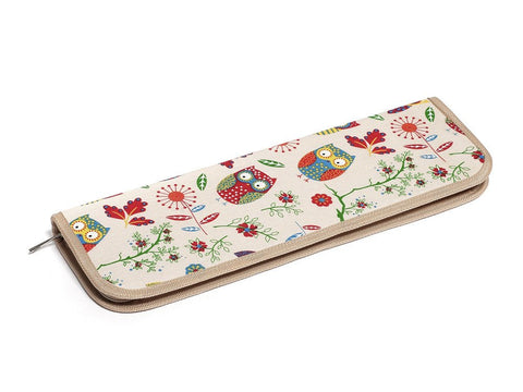 Hobby Gift Rose Extra Long Print Collection Knitting Pin Case