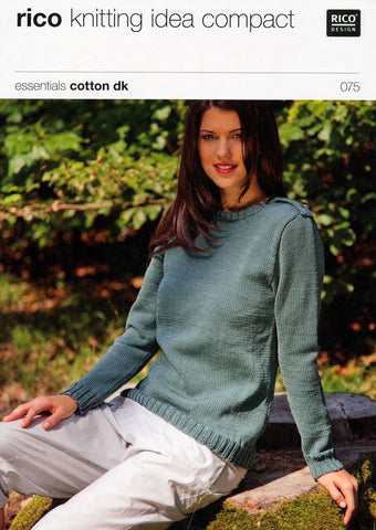 Long and Short Sleeved Sweater in Rico Design Essentials Cotton DK (075)