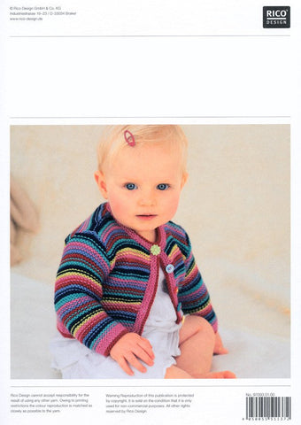 Children's V Neck and Round Neck Cardigans in Rico Design Baby Classic DK (093)