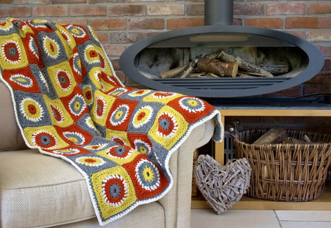 Fireside Throw - Deramores Woolpaca Chunky - Yarn and Pattern