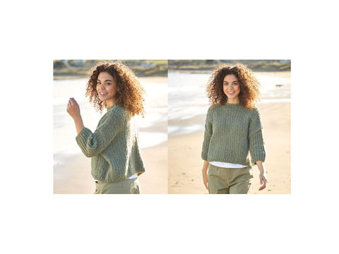 Textured Sweater in Sirdar Girlfriend (10054)