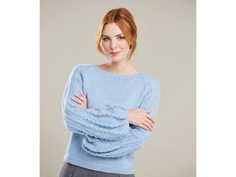 Sweater with Puff Sleeves in Sirdar Soiree (10071S)