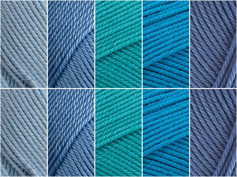Seaside Colour Pack in Patons 100% Cotton DK