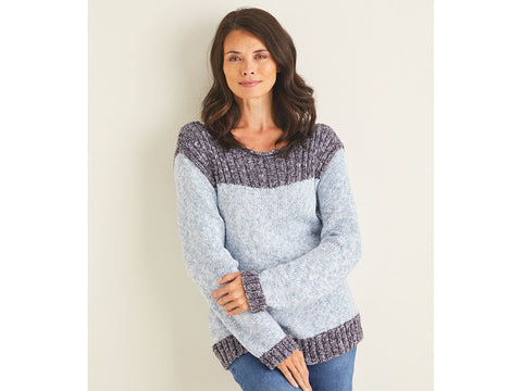 Sweater in Sirdar Knitting Kit and Pattern in Sirdar Yarn (10106)