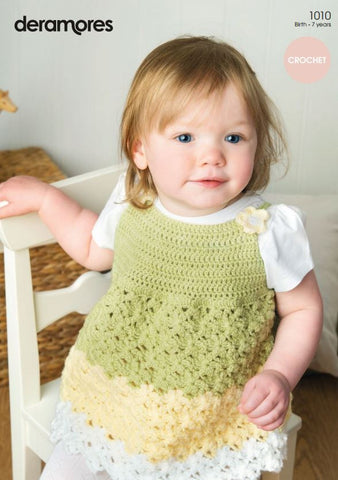 Crochet Tunic And Shrug In Deramores Baby Dk 1010 Digital Version