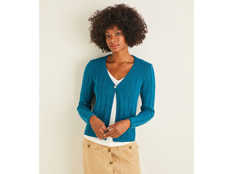 Women's Cardigan in Sirdar Cotton DK (10111S)