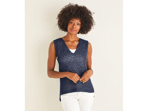Crocheted Vest Top Crochet Kit and Pattern in Sirdar Yarn (10114)