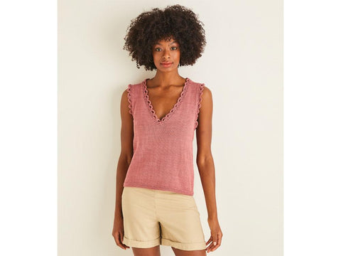 Vest Top in Sirdar Cotton DK (10116)