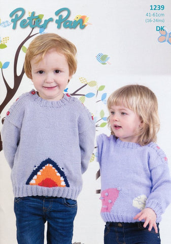 Mouse and Shark Sweaters in Peter Pan DK (P1239)