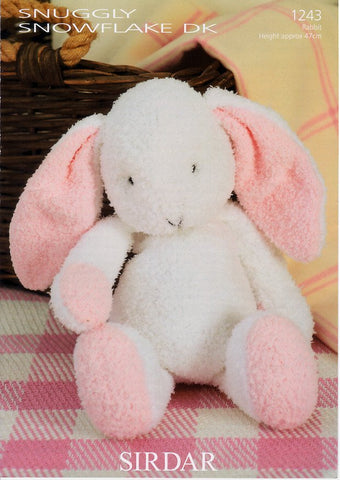 Flopsy the Bunny in Sirdar Snuggly Snowflake with Free Pattern