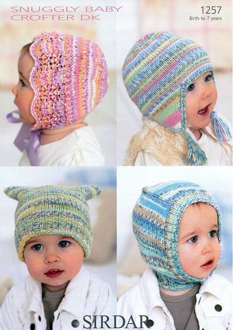 Hats in Sirdar Snuggly Baby Crofter DK (1257)