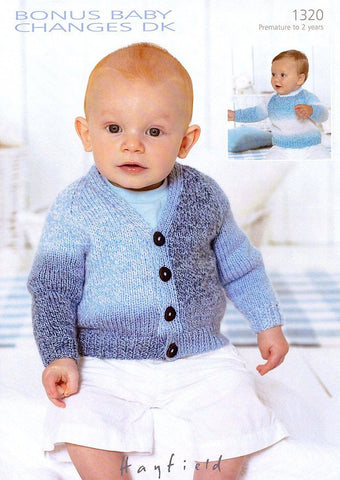 Sweater & Cardigan in Sirdar Bonus Baby Changes DK (1320)