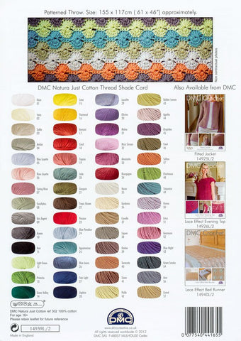 DMC Crochet Patterned Throw (14939L/2)