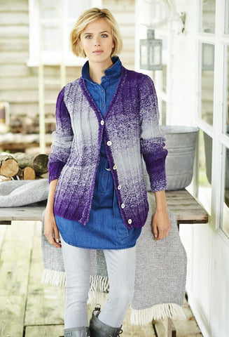 V Neck Cardigan and Waistcoat in Stylecraft Ombre (9219)