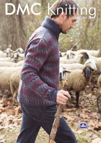 Mens Sweater in DMC Woolly (15202L/2)