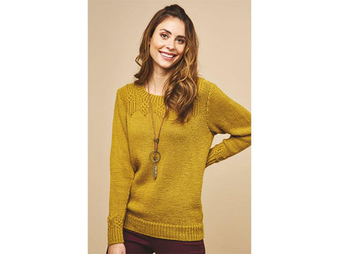 Let's Knit Wrap Yoke Jumper in Rico Design Essentials Soft Merino Aran