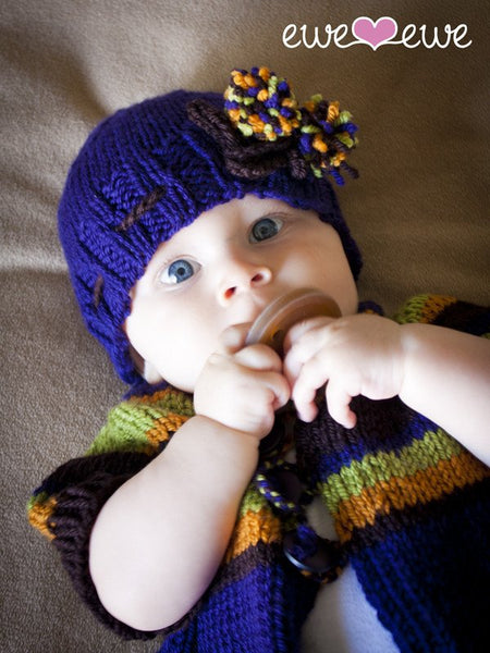 Adoracole Baby Cardigan and Hat in Ewe Wooly Worsted (205)