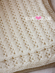 Sweet Pea Baby Blanket in Ewe Wooly Worsted (221)