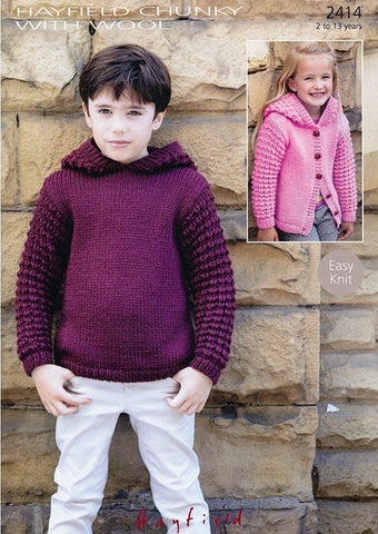 Sweater & Jacket In Hayfield Chunky with Wool (2414)