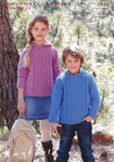 Children Round Neck and Hooded Sweaters in Hayfield Chunky Tweed (2444)