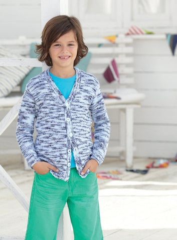 Boys Cardigans in Sirdar Snuggly Jolly (2459)