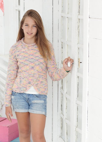 Girls Sweaters in Sirdar Snuggly Jolly (2465)