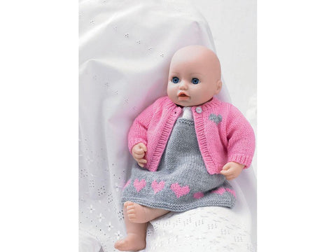 Baby Doll Pinafore, Cardigan, Top and Pants in Hayfield Bonus DK (2485)
