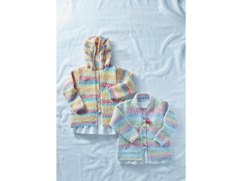 Jacket in Sirdar Supersoft Aran Rainbow Drops (2502S)
