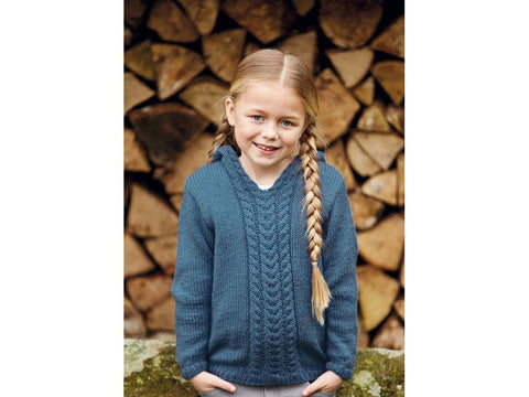 Girl's Pixie Hood Sweater in Hayfield Bonus Aran (2509S)