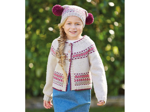 Girl's Cardigan and Hat in Sirdar Country Classic (2514S)