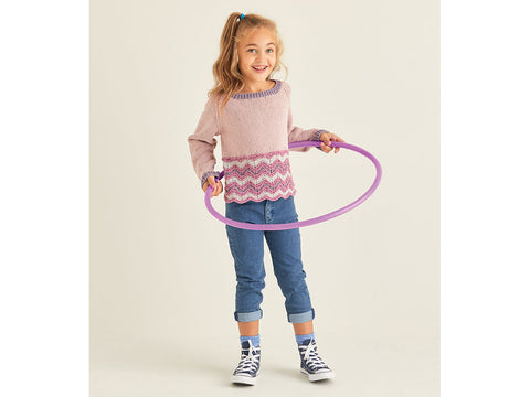 Girls Sweater in Sirdar Snuggly Replay DK (2538S)